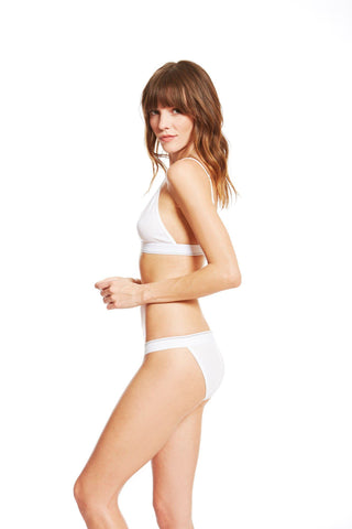 The Paradise Cove Bra / White / 2 x 1 Rib