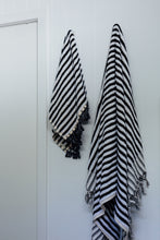 Black Stripe Bath Towel