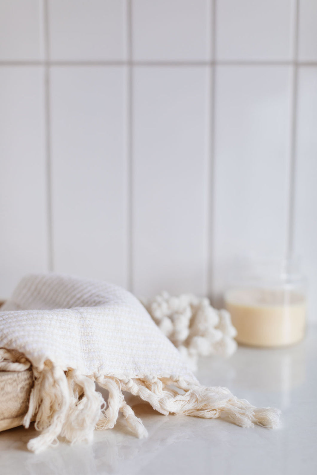 Marama Organic Hand Towel - Natural