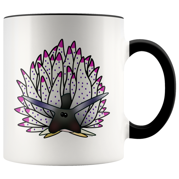 Black Sheep Leaf Nudibranch Accent Coffee Mug 11oz