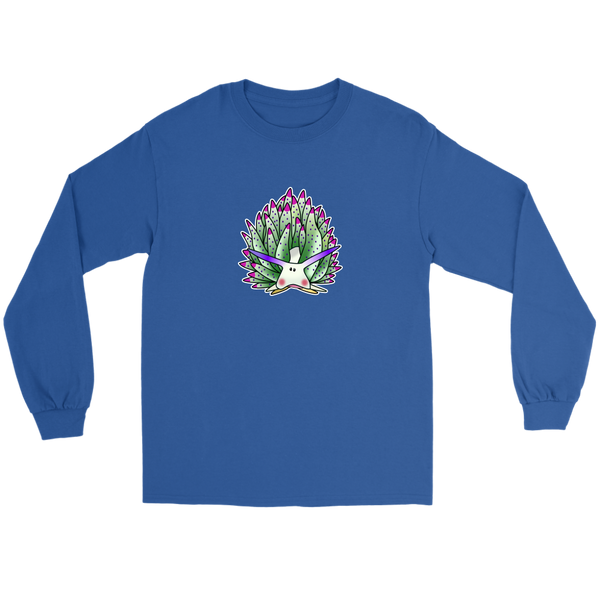 Green Sheep Leaf Nudibranch Cartoon Long Sleeve T-shirt