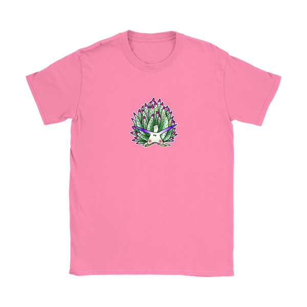 Green Sheep Leaf Nudibranch Cartoon Women's Short Sleeve T-shirt