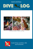 Monterey Bay Collection Scuba Dive Log Book Bundle- Fish Faces - Sea Hare - Cabezon - Diving Logbook