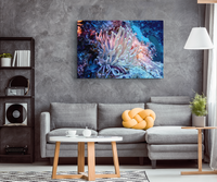 Giant Anemone Canvas Wrap  Underwater Canvas Wrap Art Print  - 5 Sizes to choose from