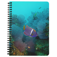 King Angelfish and Fan Coral Spiral Notebook