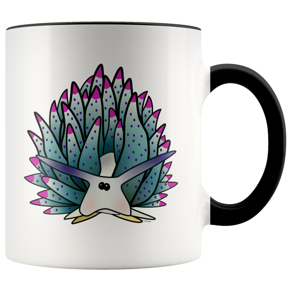 Blue Sheep Leaf Nudibranch Accent Coffee Mug 11oz