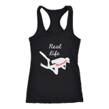 Real Life Mermaid Scuba Diver Racerback Tank Top/ Sleeveless Tee Shirt