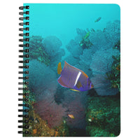 King Angelfish and Fan Coral Spiral Notebook/Journal