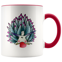 Valentine's Blue Sheep Leaf Nudibranch with Heart Accent Coffee Mug 11oz