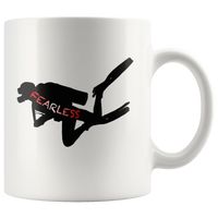 Fearless Scuba Diver 11oz or 15oz Coffee Mug