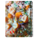 Blue Ring Top Snail and Strawberry Anemone Spiral Bound Notebook/Journal