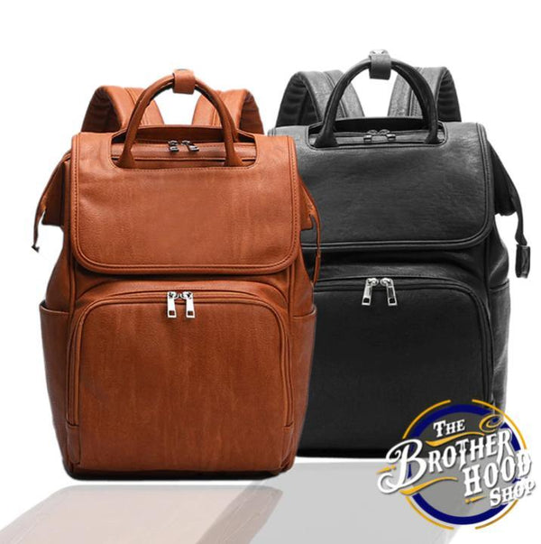 Fashion Leather Baby Bag - Diaper Leather Backpack - The Brotherhood shop