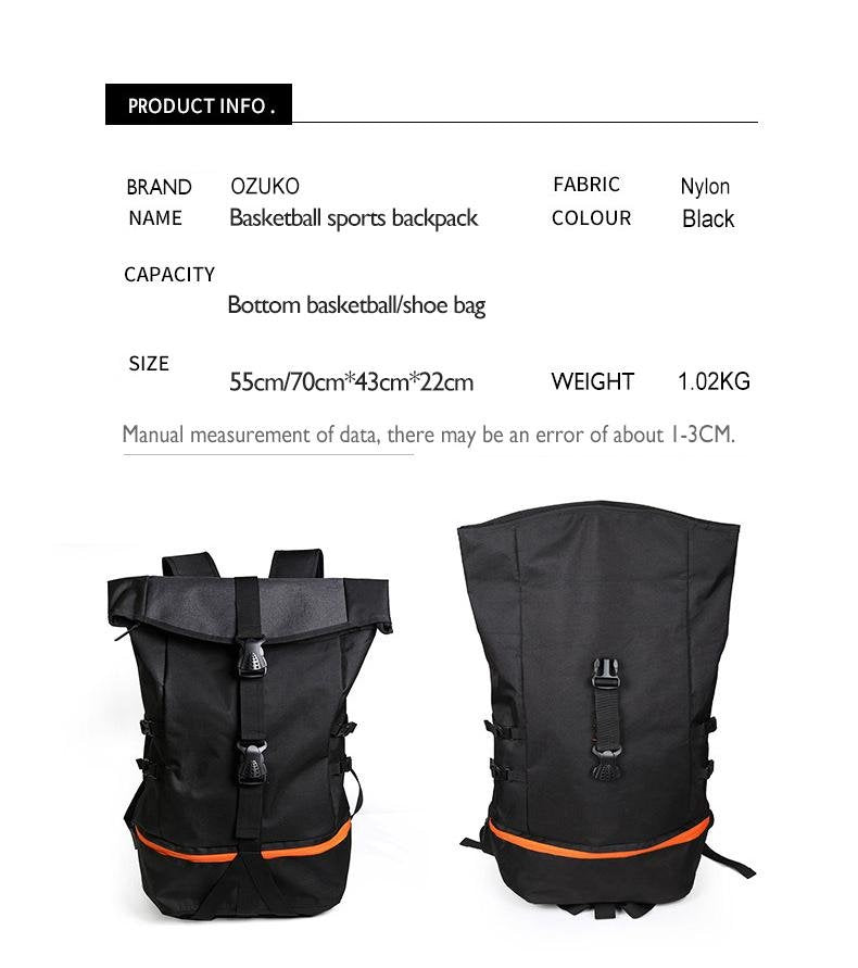 Large Capacity Backpack - Large Travel Bag - Fashion Backpack - The Brotherhood shop