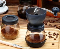Manual Coffee Grinder with Storage - Portable Ceramic Coffee Grinder - The Brotherhood shop
