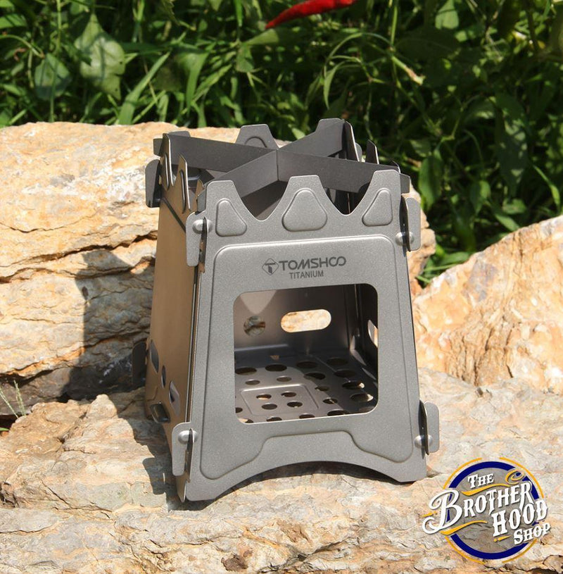 Outdoor Stainless Steel Stove-  Portable camping Box Stove - The Brotherhood shop