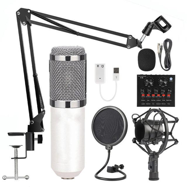 Podcast studio microphone