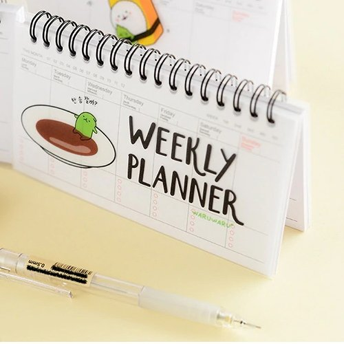 Sushi Planner Weekly - Mini Notebook Planner - The Brotherhood shop