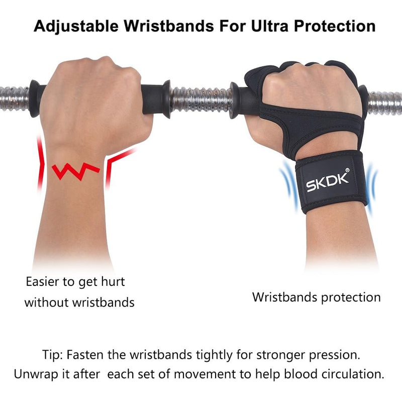 Weight Lifting Fitness Gloves With Wrist Wraps - Silicone Gel Full Palm Protection Gym Workout Gloves - Powerlifting Equipment GYM Gloves - The Brotherhood shop