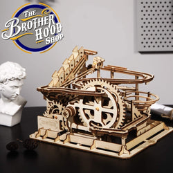 Wooden 3D Puzzle - Family Puzzle - Waterwheel Marble Puzzle - The Brotherhood shop
