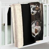 Cuddly Killers | Bulldogs Playing Poker | Sherpa Fleece Blanket