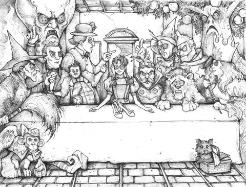 Art | The Wizard's Supper | Original Pencil Drawing