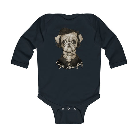 Cuddly Killers | Edgar Allan Pug | Infant Long Sleeve Bodysuit