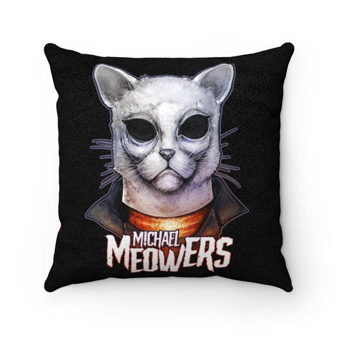 Cuddly Killers | Michael Meowers | Faux Suede Square Pillow