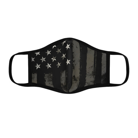 Patriot | Black and Grey Flag | Fitted Polyester Face Mask