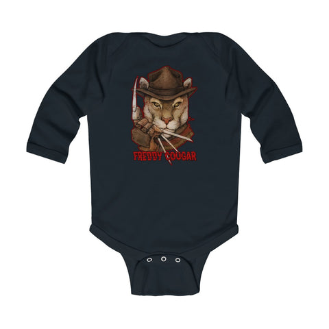 Cuddly Killers | Freddy Cougar | Infant Long Sleeve Bodysuit