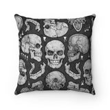 Apothic Ink | Skull | Faux Suede Square Pillow