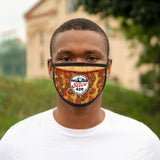Slice 420 Pizza | Pepperoni & Sausag Logo | Mixed-Fabric Face Mask
