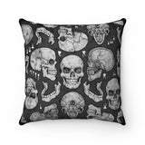 Apothic Ink | Skull Base | Faux Suede Square Pillow
