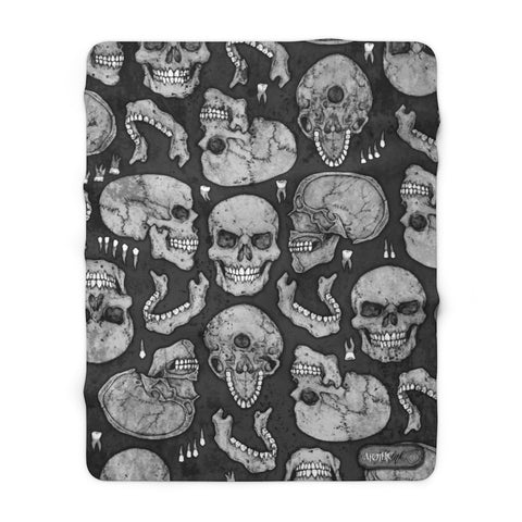 Apothic Ink | Skull Pattern | Sherpa Fleece Blanket