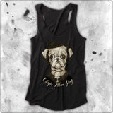 Cuddly Killers | Ladies | Edgar Allen Pug | Triblend Racerback Tank