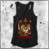 Cuddly Killers | Ladies | Freddy Cougar | Triblend Racerback Tank