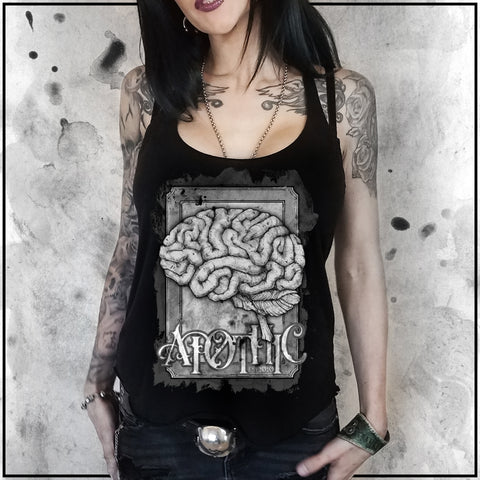Ladies | Apothic Ink - Brain 1 | Triblend Racerback Tank