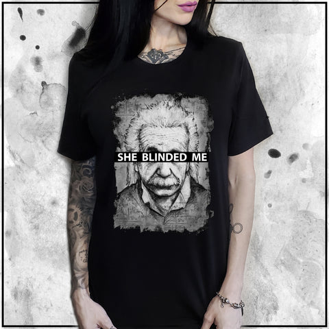 Ladies | Apothic Ink - Einstein - She Blinded Me | Oversized Tee