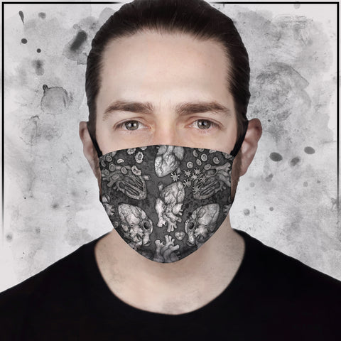 Apothic - Heart Light Grey Face Mask