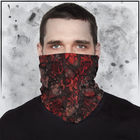 Apothic - Heart (Spot Color) Neck Gaiter
