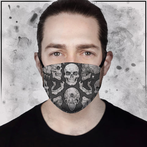 Apothic - Skull Light Grey Face Mask