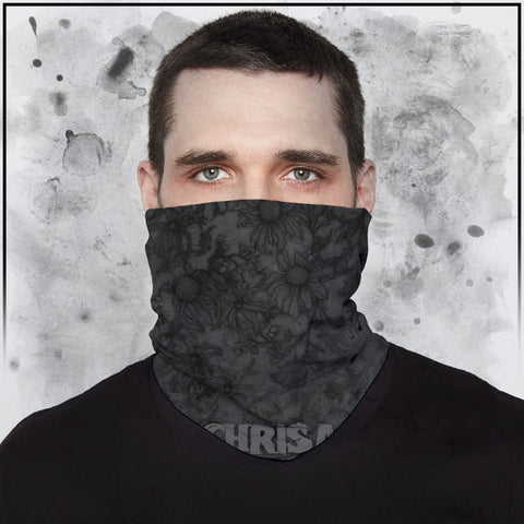 Apothic - Sunflowers Dark Grey Neck Gaiter