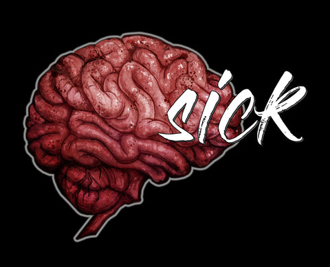 Art | Brain Sick 1 | 8x10 Print