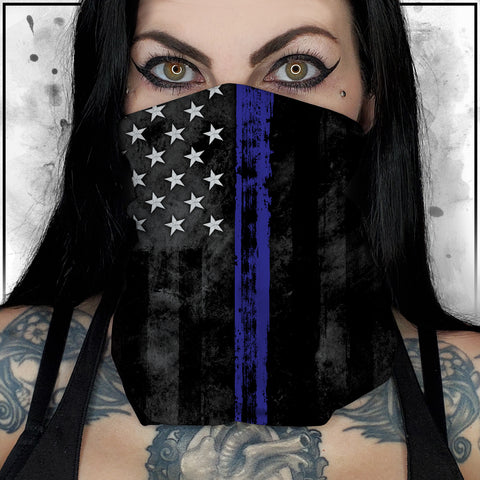 Patriot - American Flag Thin Blue Line Neck Gaiter