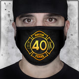 First Responder - Heroes - Austin Fire Department Station 40 Face Mask