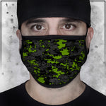 Patriot - Camo Spot Color Green Face Mask