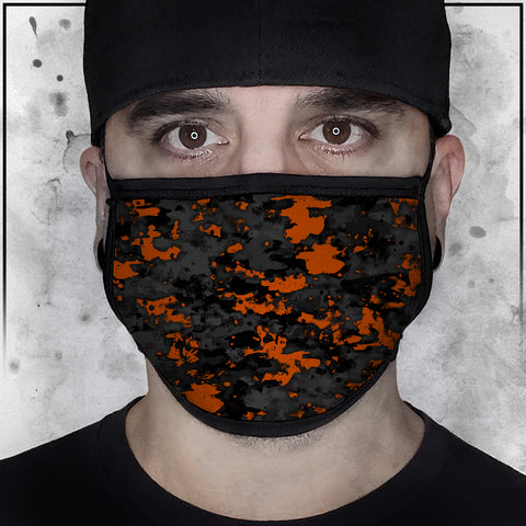 Patriot - Camo Spot Color Orange Face Mask