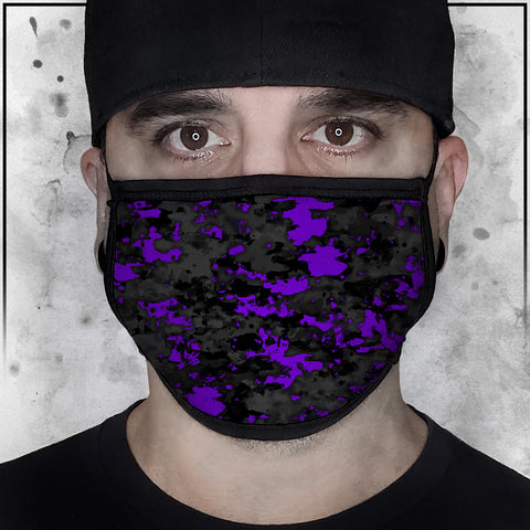 Patriot - Camo Spot Color Purple Face Mask