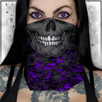 Patriot - Camo Spot Color Purple Neck gaiter
