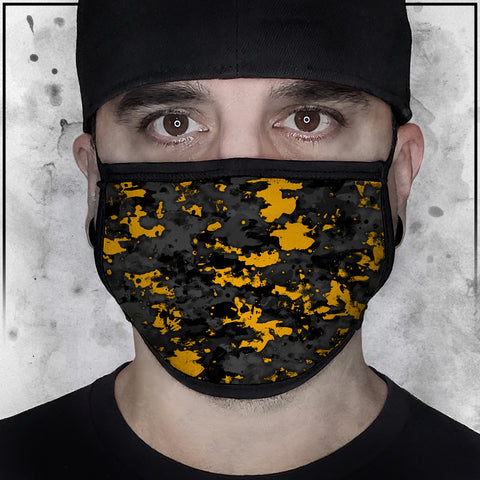 Patriot - Camo Spot Color Yellow Face Mask