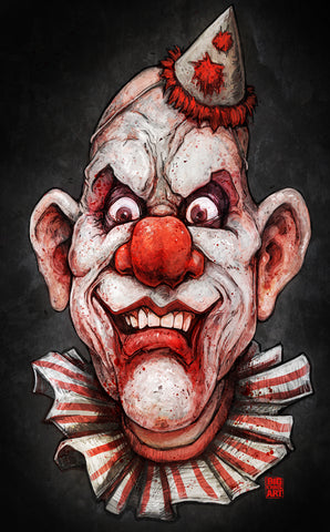 Creepy the Clown Canvas